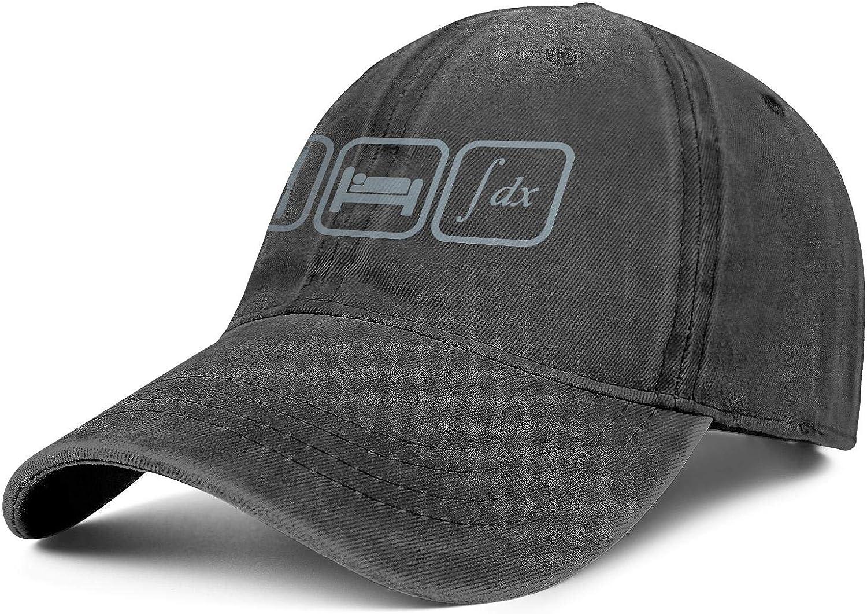 Denim Hat for Women//Men I Love Maths 4 Ever Adjustable Cool Visor Hat