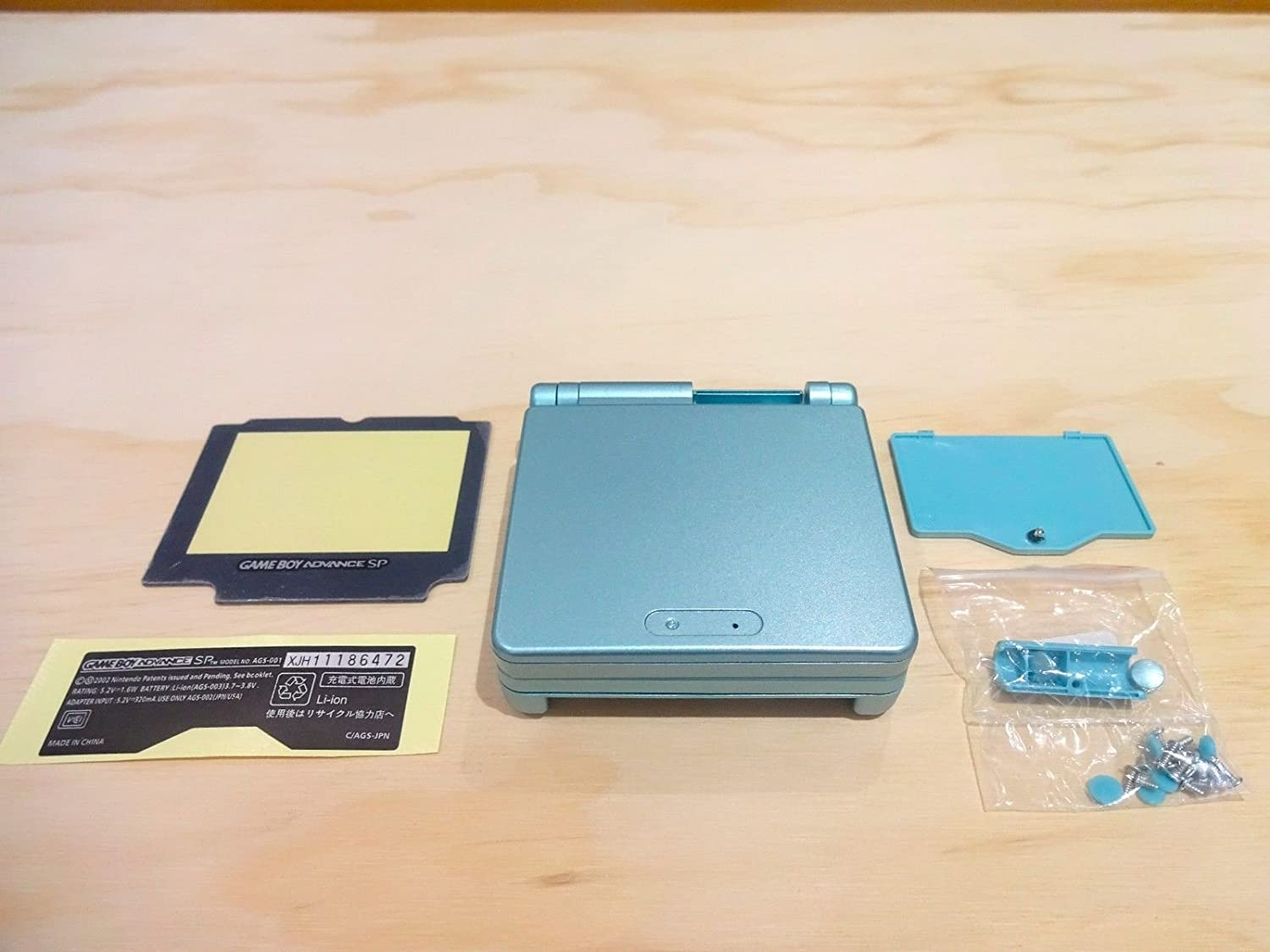 Full Housing Shell Case Cover Replacement for Nintendo GBA SP Gameboy Advance SP -Light Blue