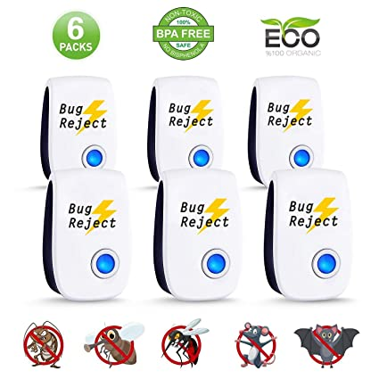 Rat And Pest Repellent no-pestz 6 Pack Us Stock 2019 Ultra-Sonic Mosquito