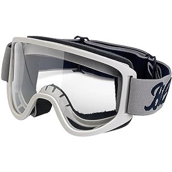 Gafas Biltwell de color gris para casco de moto customizada, bobber o chopper: Amazon.es: Coche y moto