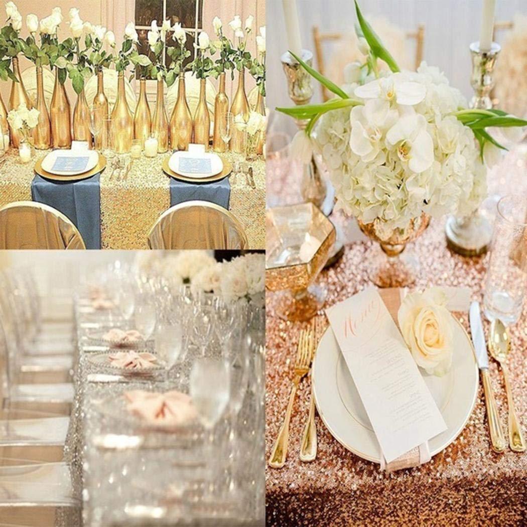 amiubo Hochzeit Tischdecke Glitter Pailletten Tischdecke Party Engagement Dekoration Tischdecken