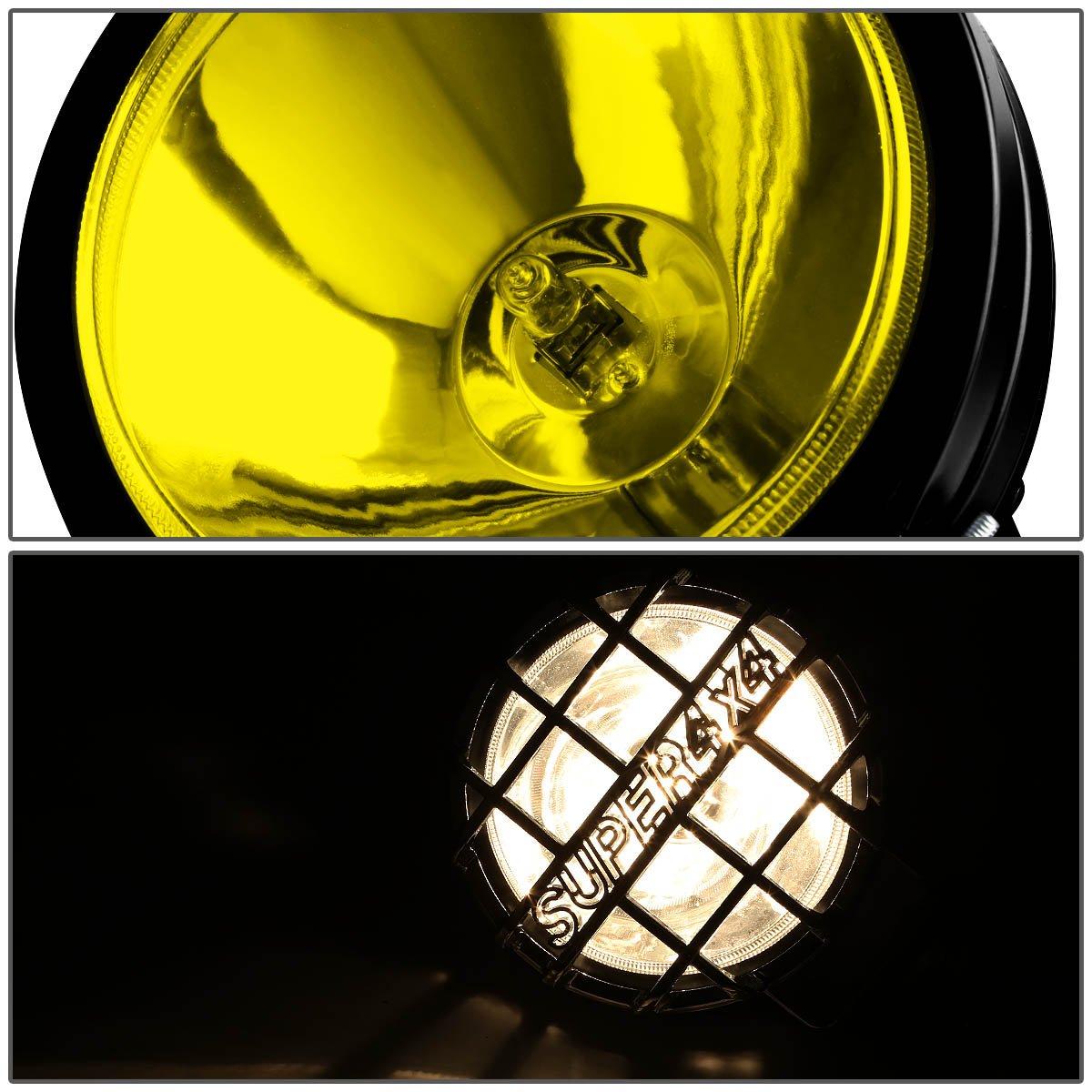 For Dodge Ram DR//DH 3 inches Black Bull Bar+6 inches Black Housing Amber Lens Fog Lights