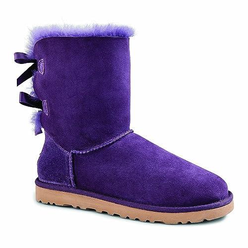 e7ac053eae9 Amazon.com | UGG Australia Women's Bailey Bow Boots Purple Velvet ...
