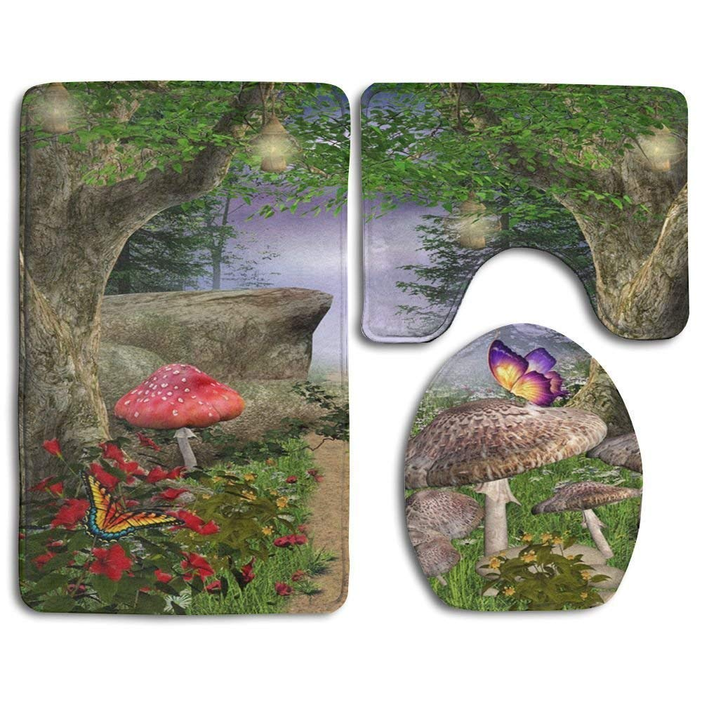 Non slip door mat outdoor red mushrooms are not edible bathroom antiskid pad 3 piece set mats set 3 piecefunny bathroom antiskid pad 3 piece set s