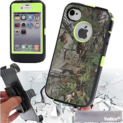 bc9523707 iPhone 4s,Vodico Heavy Duty Defender Tough Armor Shockproof with Belt Clip  Kickstand Heavy Duty