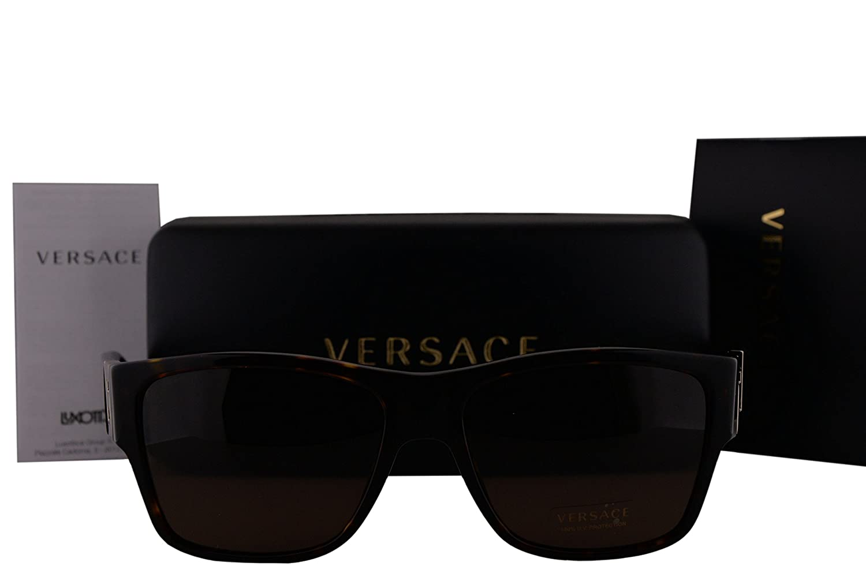 Versace VE4296 Sunglasses Havana w Brown Lens 10873 VE 4296  Amazon.co.uk   Clothing 0149516dcc93
