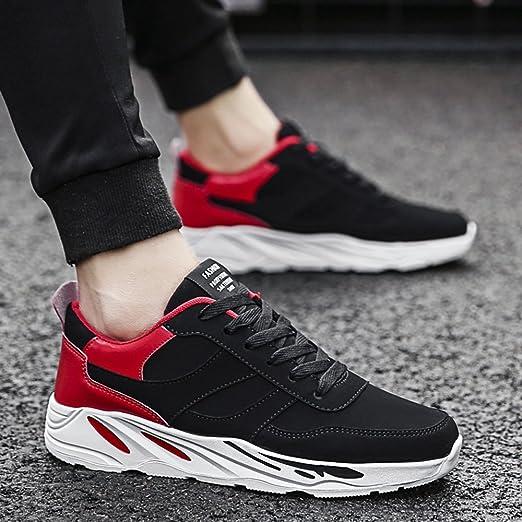 XIAOLIN- Hombre Zapatos PU Microfibra Sintético PU Invierno Otoño Confort Zapatillas De Atletismo Running Para Deportivo Casual (Color : Rojo , Tamaño : EU42/UK8.5/CN43) : Amazon.es: Jardín