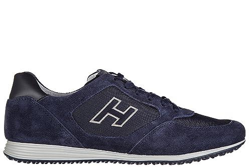 Hogan Scarpe Sneakers Uomo camoscio Nuove h205 Olympia x h Flock Blu  Amazon .it  Scarpe e borse db416a7a102