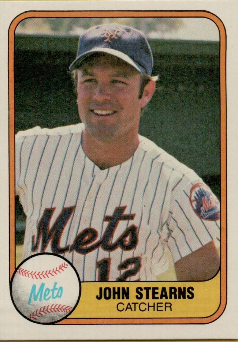 野球MLB 1981 Fleer # 317ジョンStearnsメッツ B074YWFR1Y