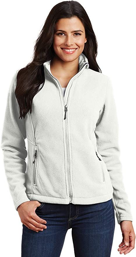 Ladies Full Zip Monogrammed Sherpa Personalized Fleece Jacket Gray and Natural Coat College Apparel Blogger Fashion Navy Black