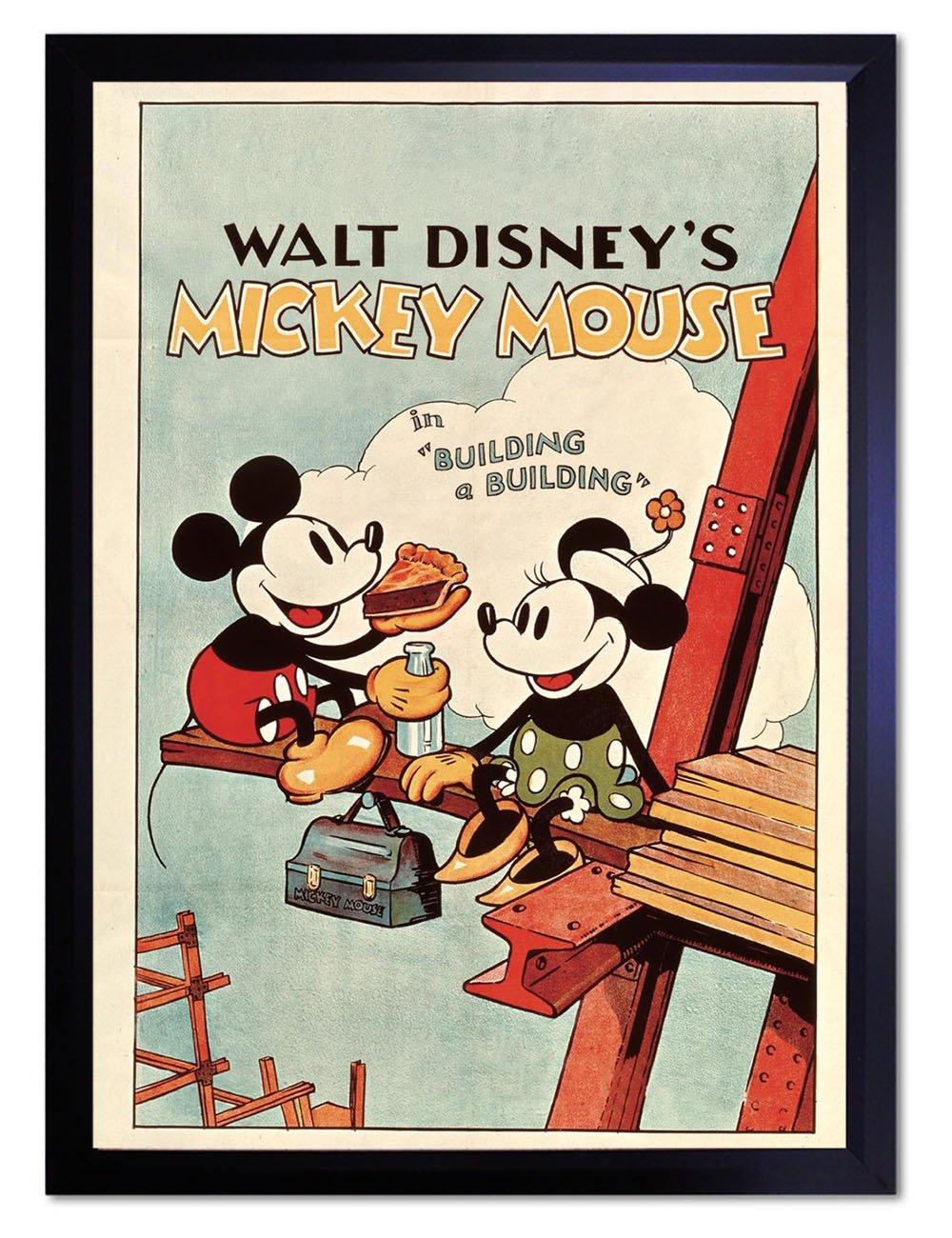 【DXポスター】ディズニーポスター Disney ミニーマウス レトロP-A3-POP-DSNY-0030-bk P-A3-POP-DSNY-0030-bk B073SG444JA3サイズ(42cm×29.7cm)+ブラックフレーム