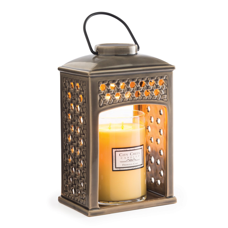 Candle Warmers Etc. Ceramic Lantern, Weave