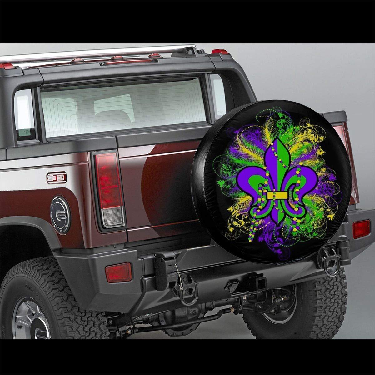 14,15,16,17 inch Belleeer Copriruota di scorta,Tire Cover Polyester Universal Spare Wheel Tire Cover Wheel Covers for Trailer RV SUV Truck Camper Travel Trailer