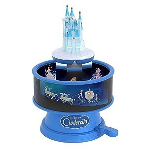 Hallmark Keepsake Christmas Ornament 2019 Year Dated Disney Cinderella Castle Zoetrope Musical with Light and Motion (Plays Bibbidi-Bobbidi-Boo Song), Fairy Godmother
