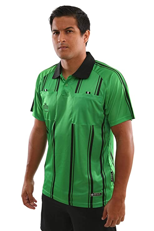 13a03d74436 Amazon.com  Admiral Short Sleeve Pro Soccer Referee Jersey  Sports ...