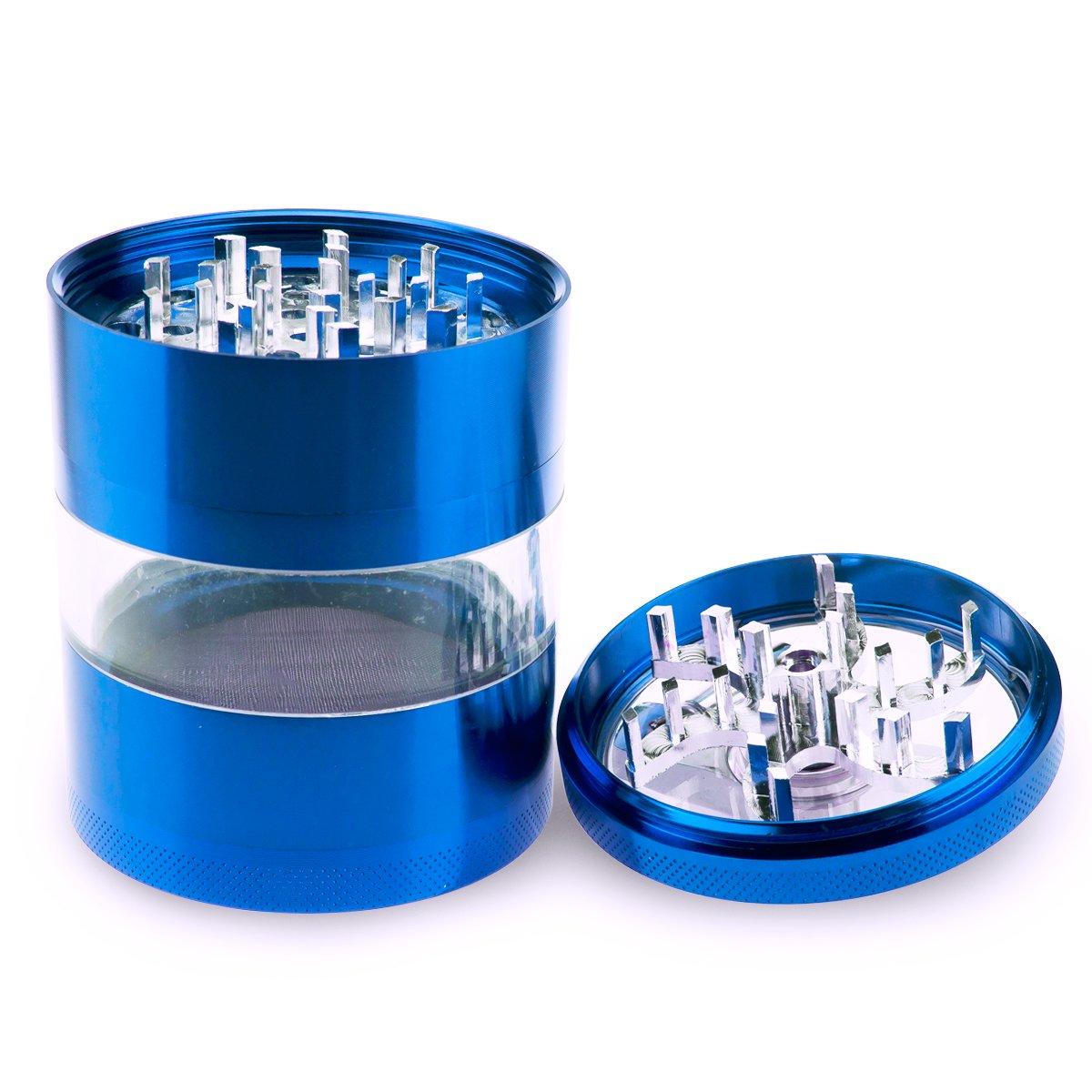 Aluminium blau Formax420 Kr/äuterm/ühle mit Kurbel 62mm 4-teilig 62MM
