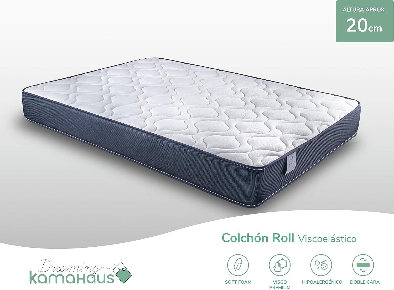 Dreaming Kamahaus Viscoelástico Roll Colchón, Cartón, 80x180
