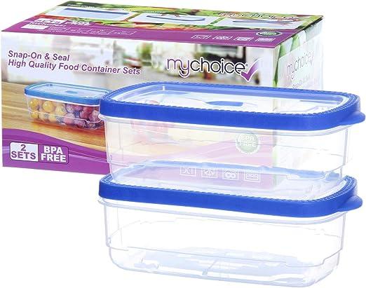 MyChoice Snap-On & Seal - 2 contenedores de alimentos a prueba de ...