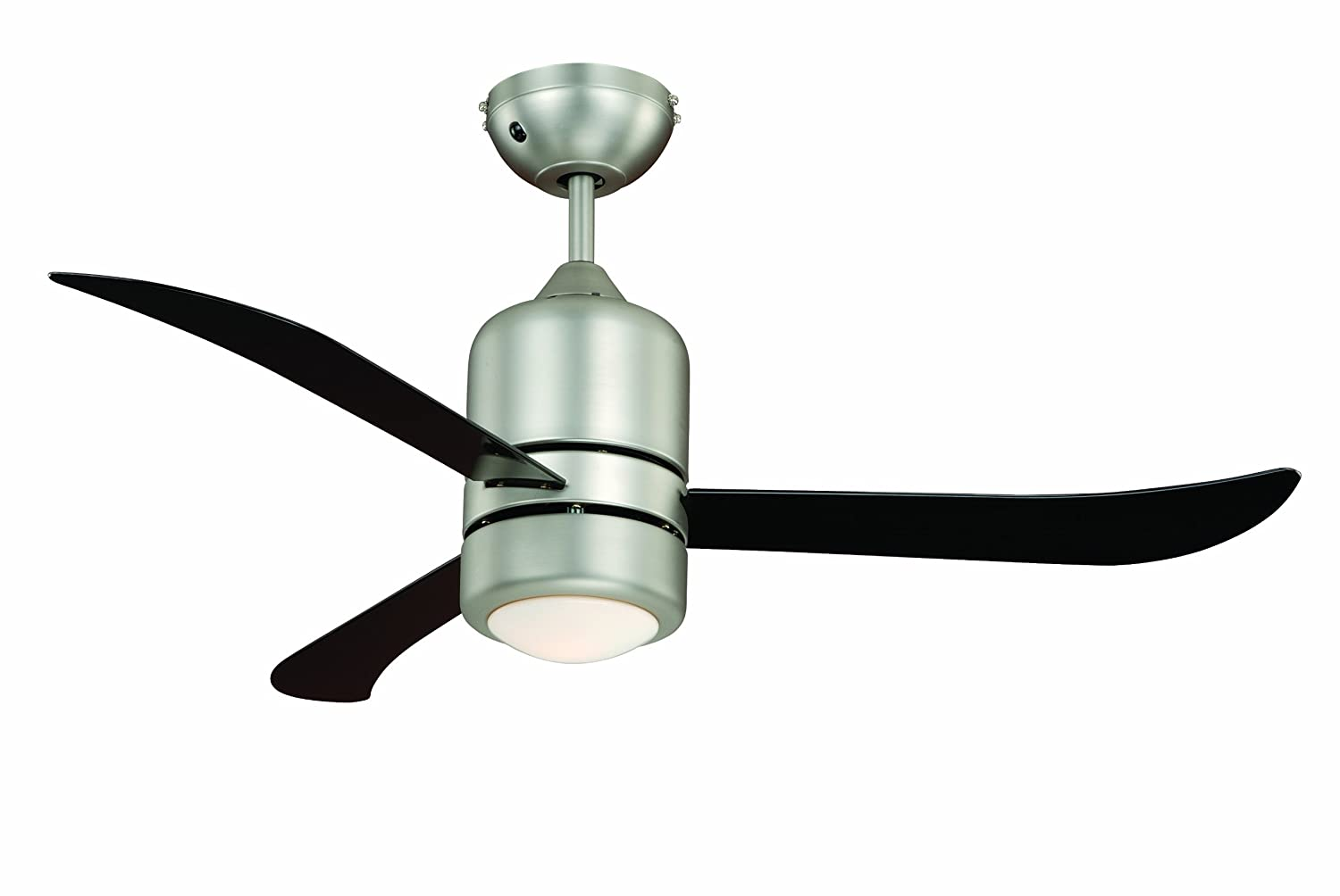 FN51133 240 V AireRyder Ceiling Fan Loft Nickel Transparent with Lighting and Remote Control 45 W