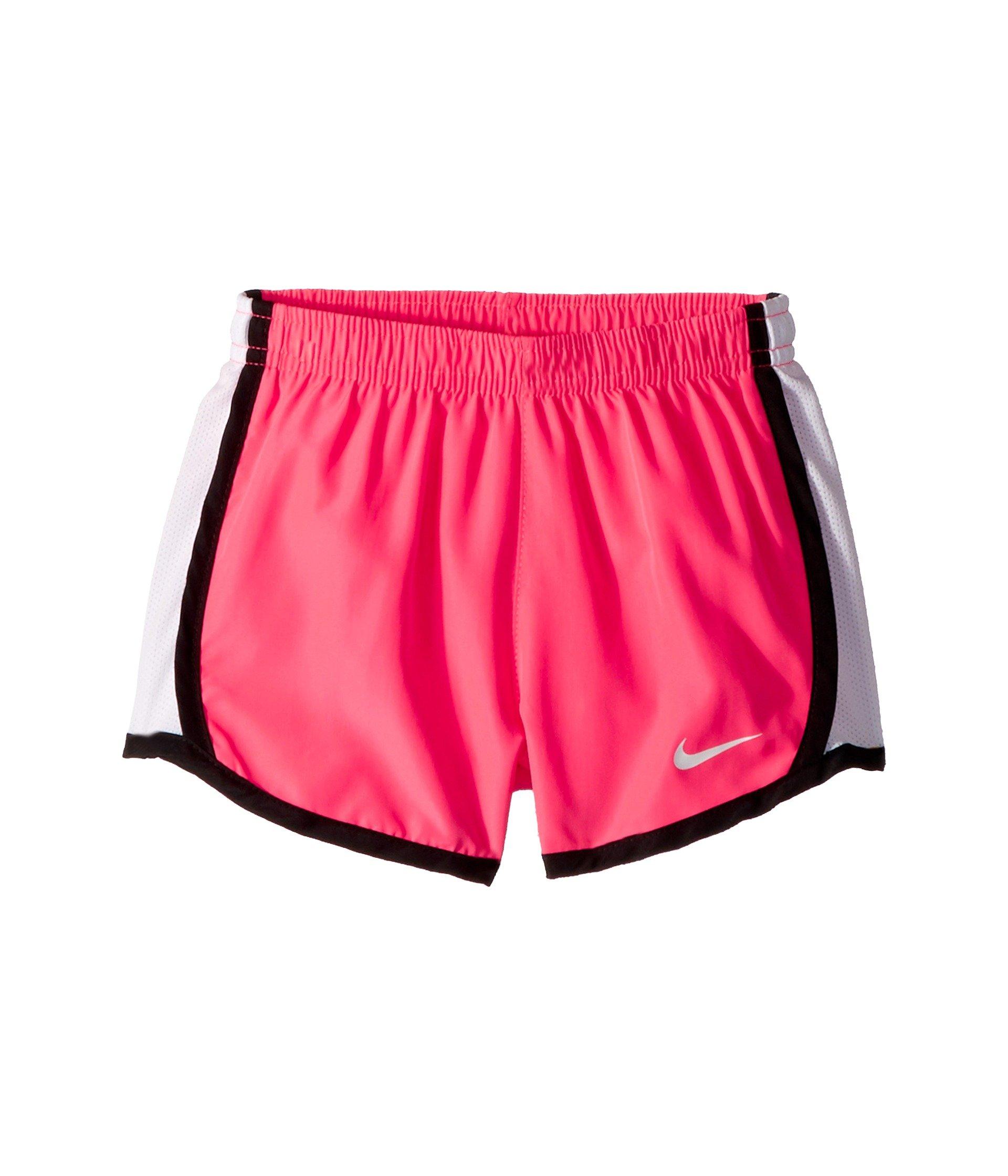 NIKE Girl`s Dry Tempo Shorts (Racer Pink (848196-618)/Black/White, 2T Toddler)