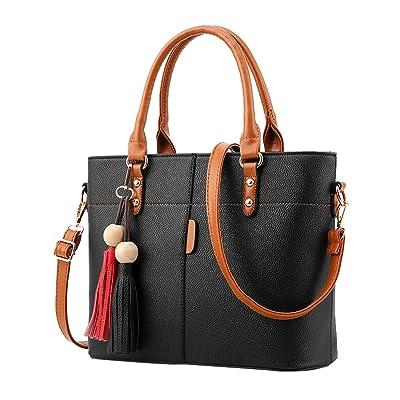 Menschwear Womens PU Bag Cross-body Bag Hand Handle Bags Shoulder Bags 30.5cm