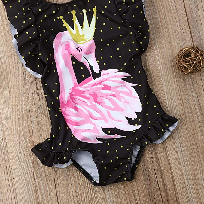 Amazon.com: Bañador para bebés y niñas, diseño flamenco o ...