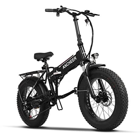 Amazon.com : ANCHEER Electric Folding Mountain Bike Fat Tire E Bike ...