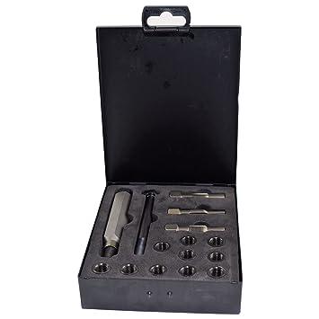 Bujía métrica Culata restaurador toca el kit de reparación de roscas M10 x 1.0: Amazon.es: Coche y moto