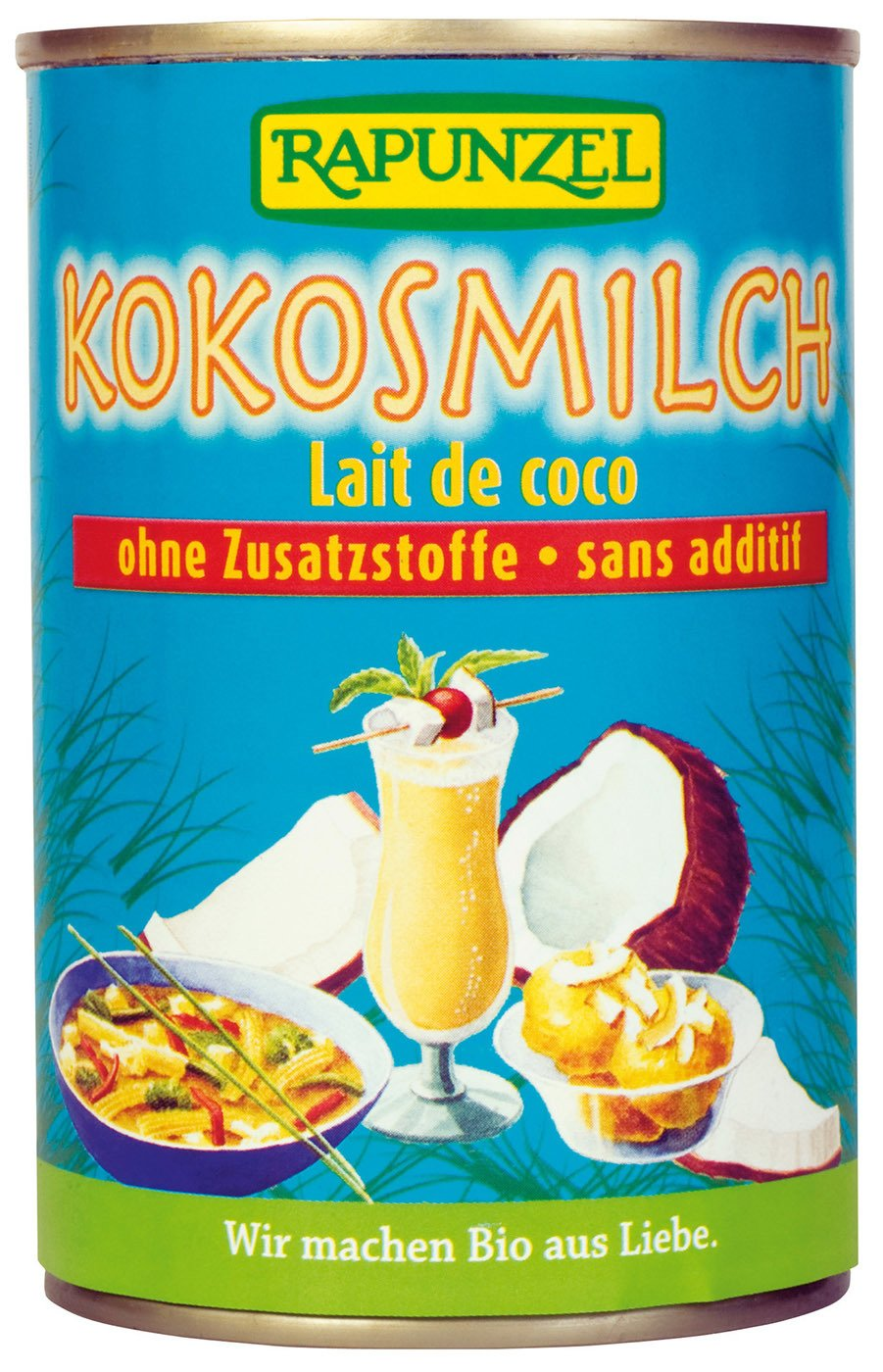 Leche de coco Rapunzel bio (1 x 400 ml): Amazon.es: Alimentación y bebidas