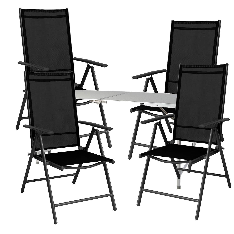 Mojawo® - Juego de Mesa y sillas de Camping (5 Piezas, 120 x 60 x 58 ...