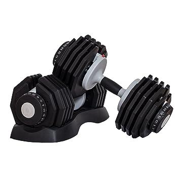 Profihantel Sistema de Pesas DialTech DE 2,5 a 25 kg, Ajustable de Forma