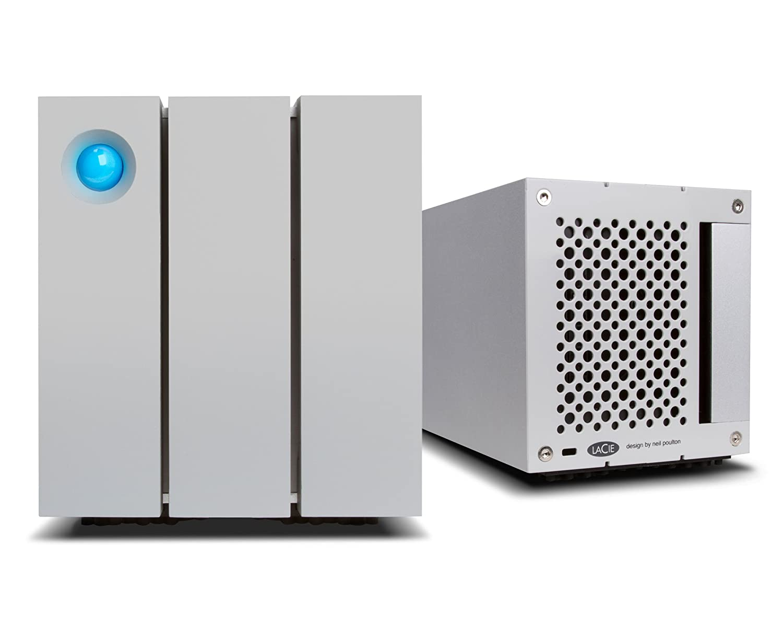 LaCie LAC9000473EK - Carcasa (12 TB, Dual Thunderbolt 2 + USB 3.0, Dual Disk Raid) Color Plata
