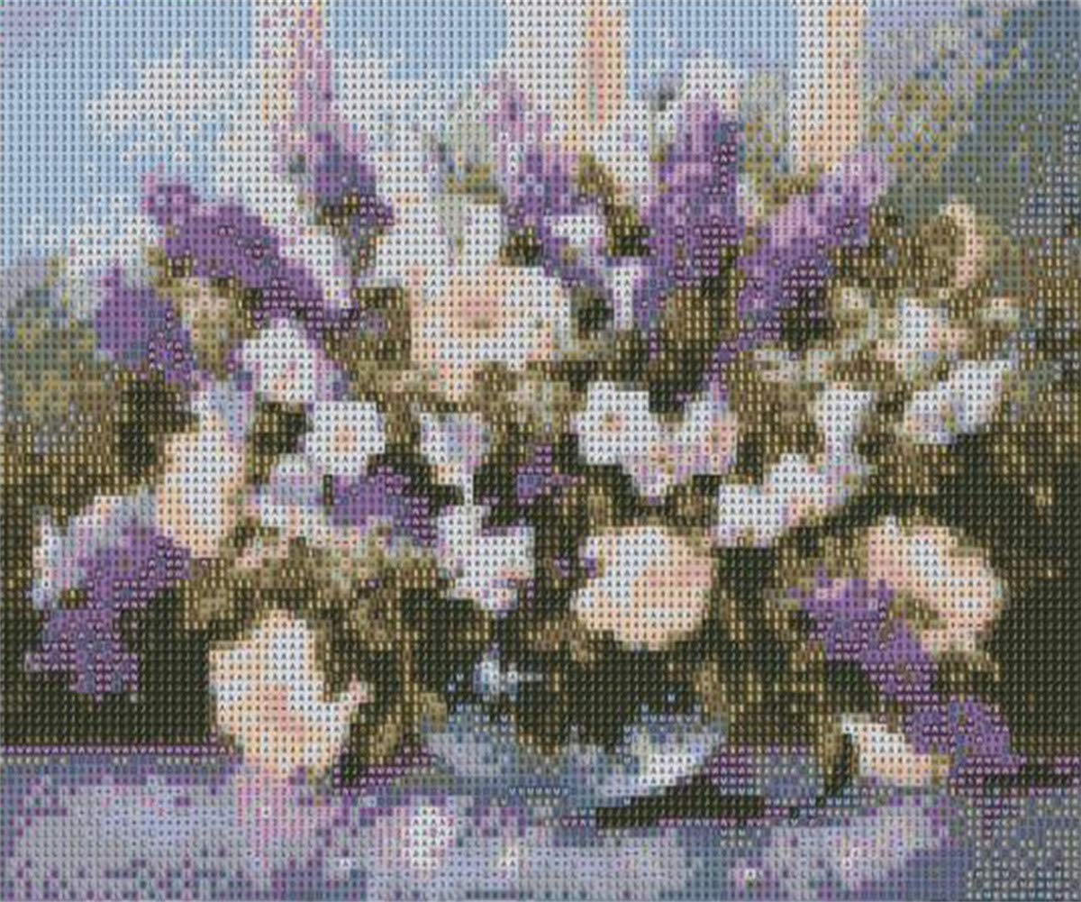 DIY Full Drill Flowers Cross Stitch Embroidery Rhinestone Picture Craft Arts for Home Wall Decor 12x16inch 5D Diamond Painting Kits