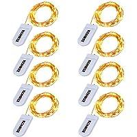 8-Pack Kohree 7.2ft 20 LED Fairy String Lights (Warm White)