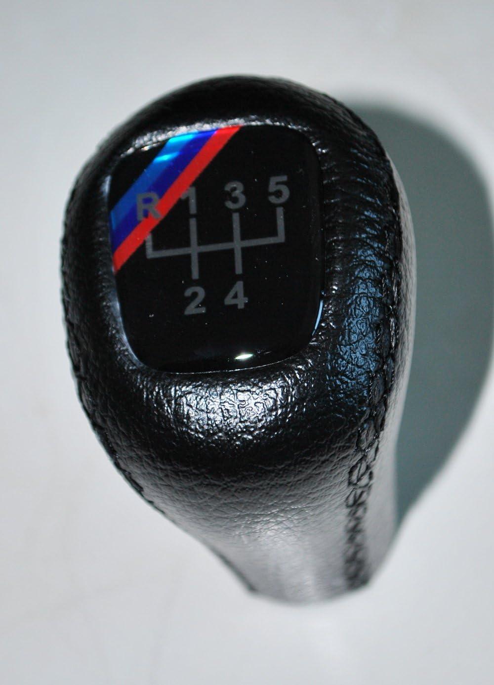 Schaltknauf Bmw M E30 E34 E36 E39 E46 Schwarzes Leder Bmw E30 E34 E36 M Gear Shift Knob E39 E46 Black Leather Schalthebel Schaltknäufe Auto