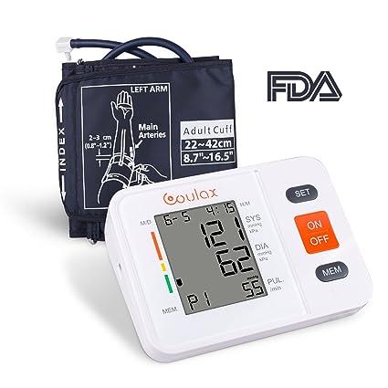 Tensiómetro de Brazo Digital (2 * 90), COULAX Certifica FDA, Lecturas de