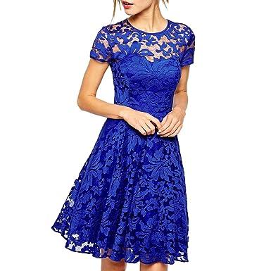 online retailer 41806 a1a0f mywy - Abito donna svasato elegante vestito tipo pizzo ...