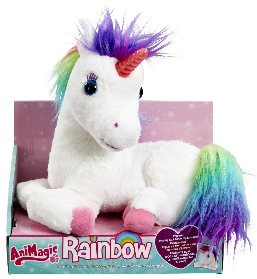 Animagic - Ma Licorne Magique Rainbow - Corne Lumineuse - Hénnit et émet des Sons Magiques - Peluche Interactive product image