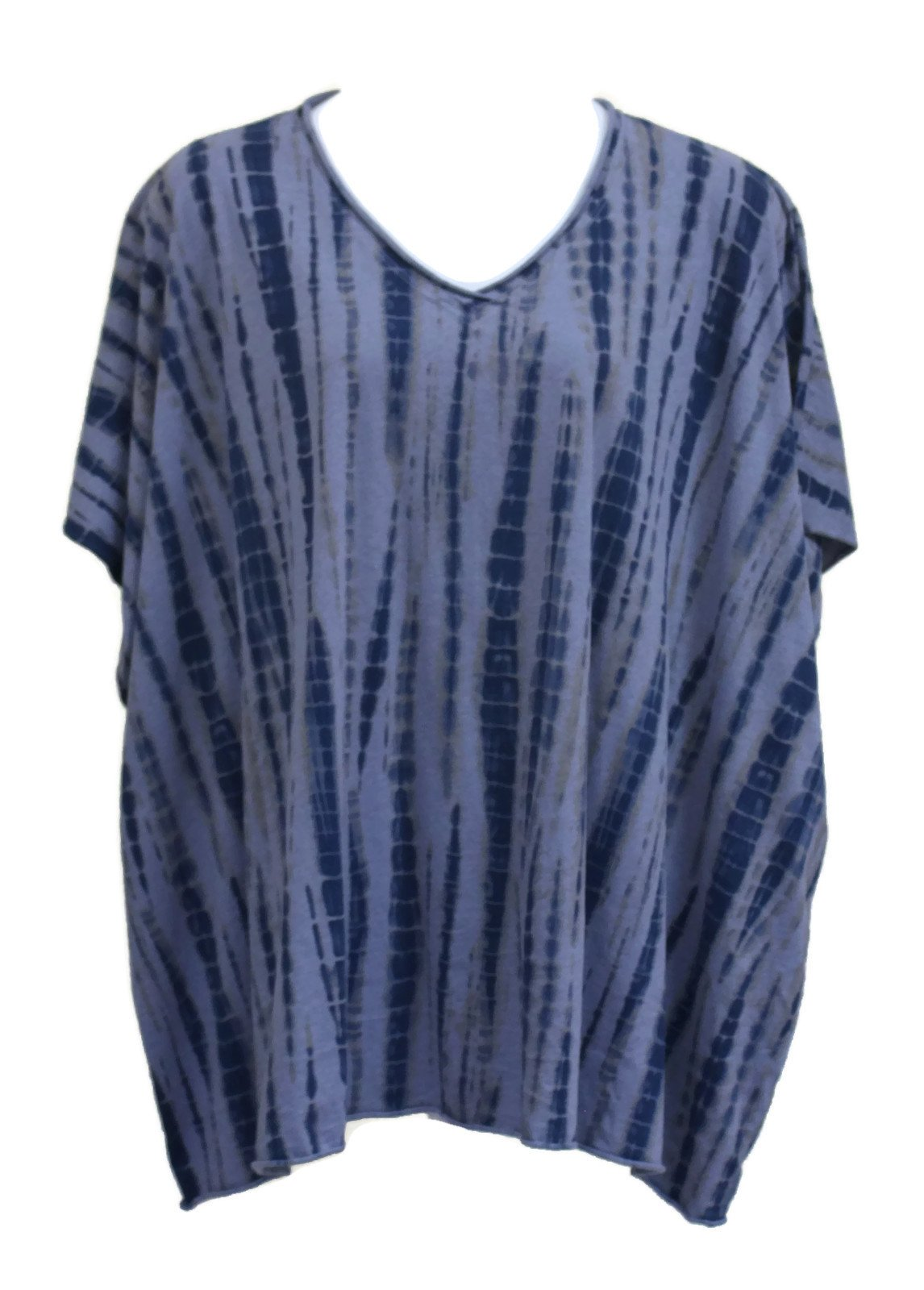 Prairie Cotton Women's Belize Elbow V Tunic Tee OSFM (One Size Fits Most, Slate)