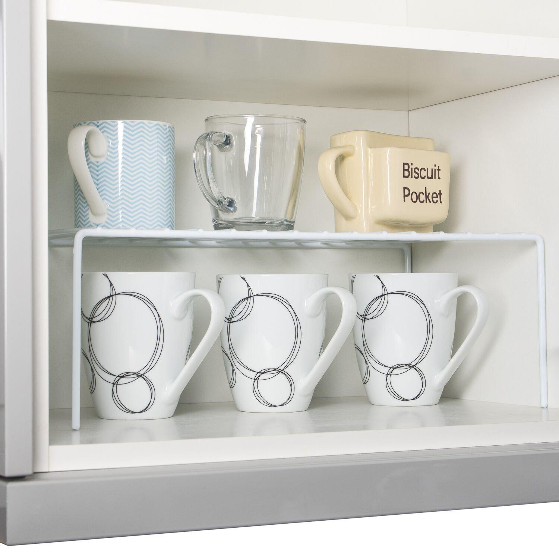 Estante para añadir de Home Treats Perfecto para ollas, sartenes, organizador de almacenamiento de casa y cocina.: Amazon.es: Hogar