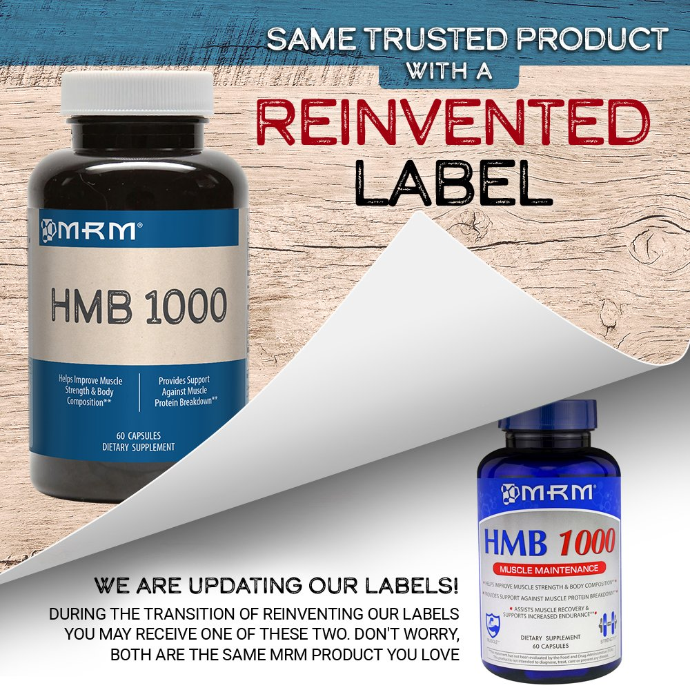 MRM - HMB 1000, Muscle Maintenance, Helps Improve Muscle Strength and Body Composition (60 Count) by MRM (Image #4)
