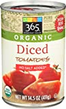 365 Everyday Value, Organic Diced Tomatoes No Salt Added, 14.5 oz