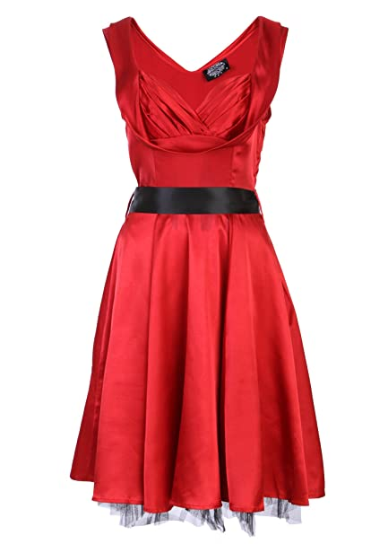 5c066e7dcba Red 1950 s Valentine s Day Dress Vintage Style Sweetheart Full Circle Party  Cocktail Prom – Size US