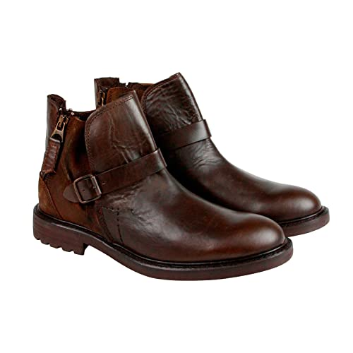04781f06cd42 GBX Teem Mens Brown Leather Strap Boots Shoes 11.5  Amazon.ca  Shoes ...