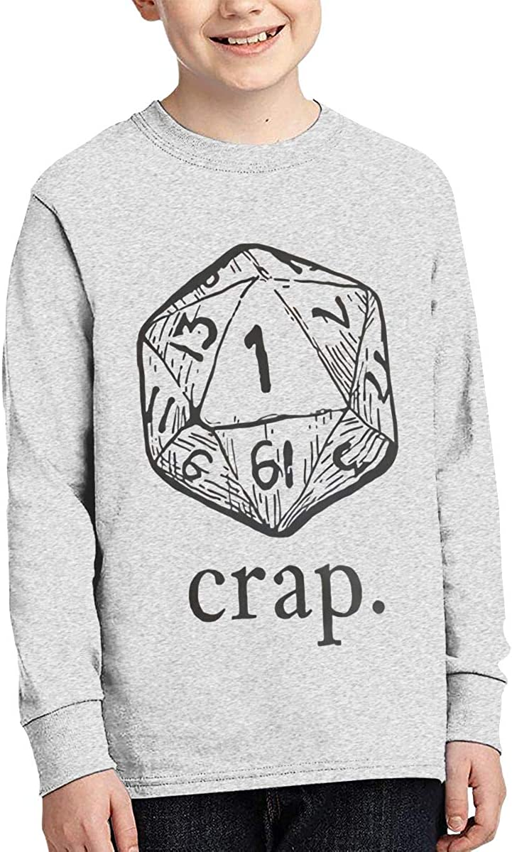 Youth Dungeons and Dragons Sports Boy Or Girl Long Sleeve Shirt-Moisture Absorbing and Perspiration.