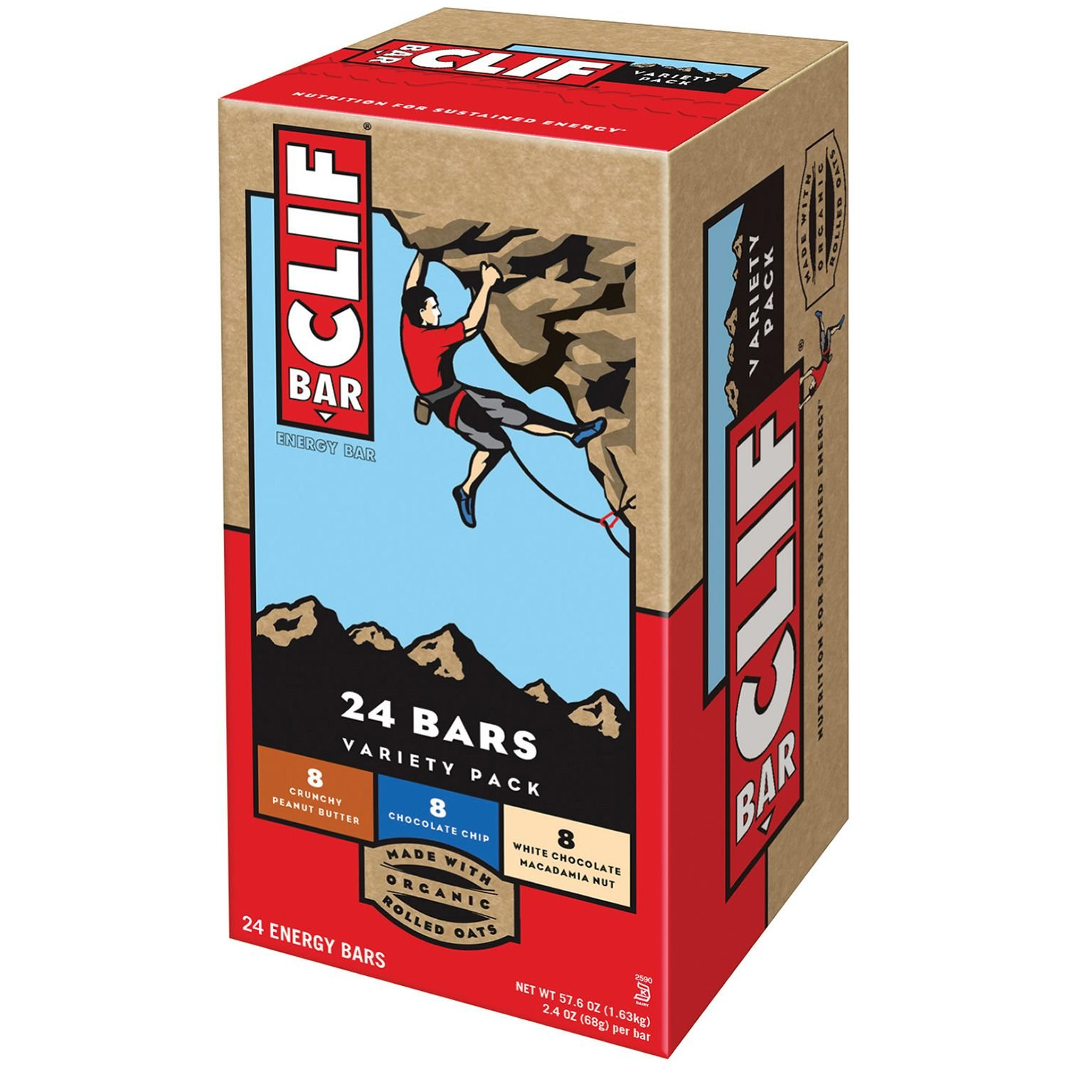 Amazon Com Clif Bar Energy Bar Variety Pack Of Chocolate