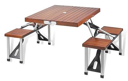 Amazon.com: Picnic at Ascot Portable Picnic Table Set: Kitchen & Dining