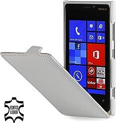 StilGut Ultraslim, housse exclusive de cuir véritable pour le Nokia Lumia 920, blanc