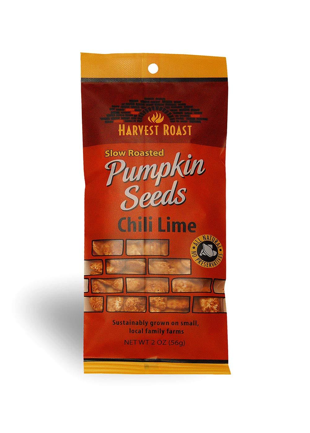 Harvest Roast: Slow Roasted Chili Lime Pumpkin Seeds 2 Oz (12 Pack) by