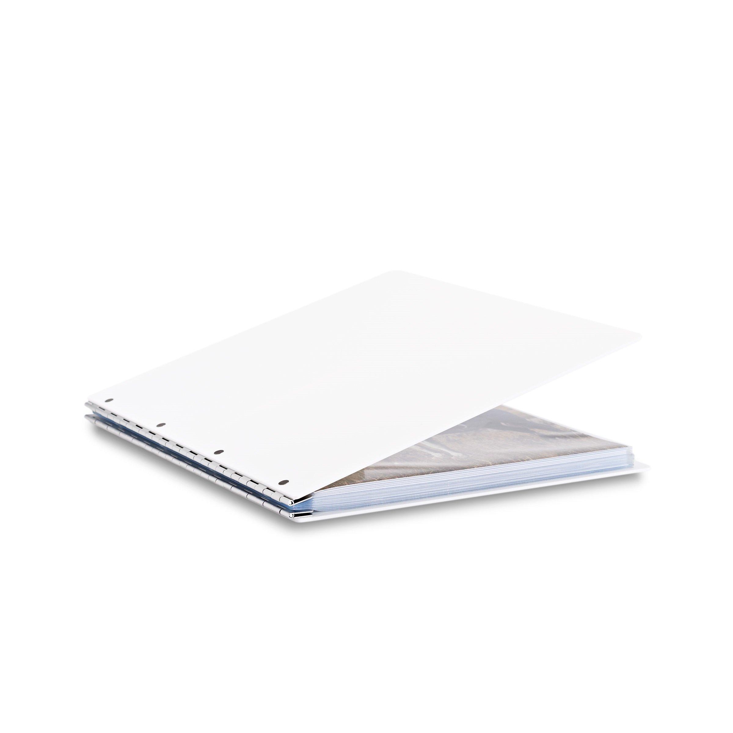 Pina Zangaro Vista 11x14 Portriat Screwpost Binder Snow, Includes 20 Pro-Archive Sheet Protectors (34071)